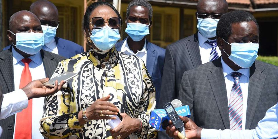 CS Amina cautioned fans, politicians ahead of Egypt match to refrain from Kasarani!
